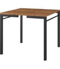 mesa de jantar tampo native e tubos pretos carraro - incolor - dafiti