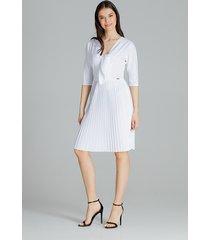 sukienka l076 biały