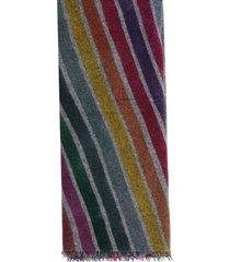 faliero sarti rossano cashmere scarf 60x190 w/stripes