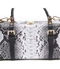 like dreams snakeskin treasure tote box bag