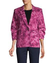 tie-dye stretch-cotton blazer