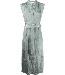 vince crinkle effect dress - green