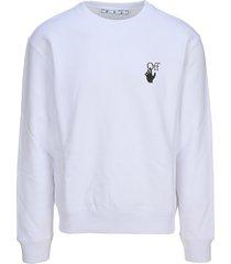 off-white off white caravaggio logo sweatshirt