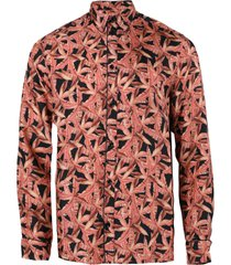small banana leaves long-sleeve pajama shirt