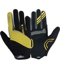 guante largo touch onwheels amarillo/negro