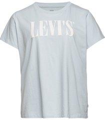 pl perfect tee pl 90s serif t2 t-shirts & tops short-sleeved blå levi's plus