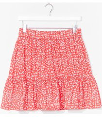 womens a real natural floral mini skirt - red