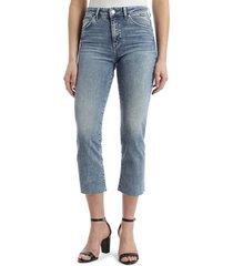 women's mavi jeans niki raw hem straight crop jeans