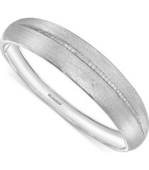 effy diamond satin finish bangle bracelet (1/3 ct. t.w.) in sterling silver