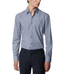 boss men's ronni 53 dark blue shirt