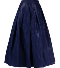 fabiana filippi full shape midi skirt - blue