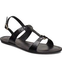 beechum sandal shoes summer shoes flat sandals svart gant