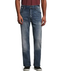 true religion men's ricky flap straight jeans - blue - size 38