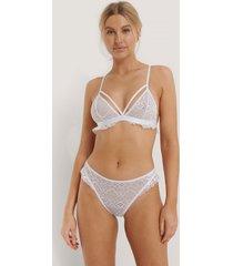na-kd lingerie spetstrosor - white