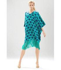 couture basketweave sleepshirt pajamas / sleepwear / loungewear, women's, green, 100% silk, size xs/s, josie natori