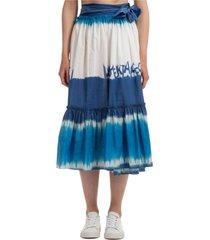 alberta ferretti grizzly wings maxi skirt