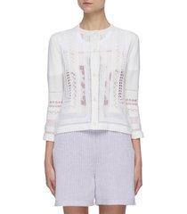 mouchoir square detail cashmere blend cardigan