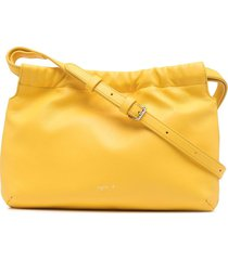 agnès b. drawstring shoulder bag - yellow