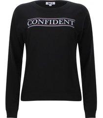 buzo confident color negro, talla s