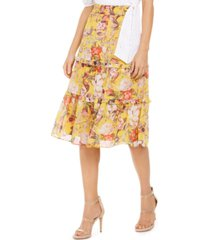 inc tiered floral midi skirt, created for macy's