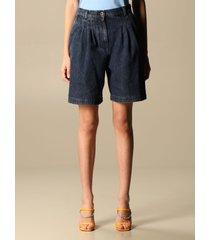 alberta ferretti short alberta ferretti tapered jeans bermuda with high waist