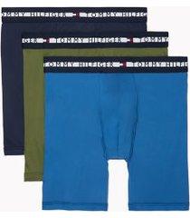 tommy hilfiger men's comfort + boxer brief 3pk cypress - l