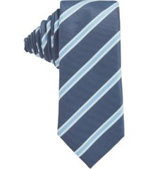 boss men's open blue tie