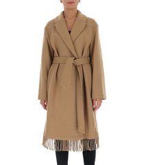 wrap coat with fringes
