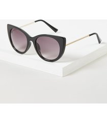 lane bryant women's black cateye sunglasses onesz black