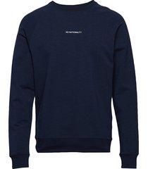 geoff print 3383 sweat-shirt trui blauw nn07