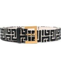 woman bicolor jacquard b-classic belt