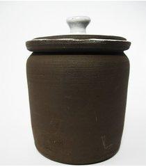 ceramiczny pojemnik z małą gałką