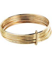 pierścionek złoty 7 elementów good karma