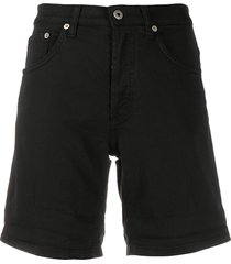 dondup slim-fit denim shorts - black