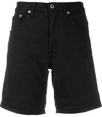 dondup slim-fit denim shorts - black
