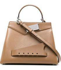 maison margiela structured tote bag - brown