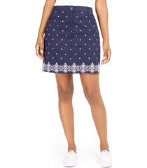 karen scott caraway stars embroidered skort, created for macy's