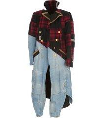 greg lauren sailor plaid scrapwork coat