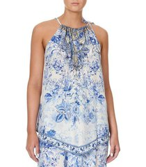 high tea handkerchief hem tank