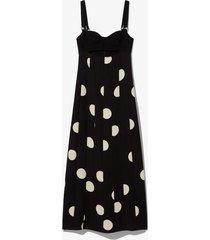 broken dot bustier dress