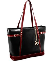 mcklein serafina leather tote