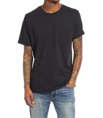 men's treasure & bond men's short sleeve pocket t-shirt, size x-large - black