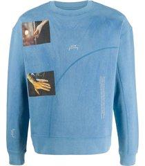 a-cold-wall* glass photo-print sweatshirt - blue