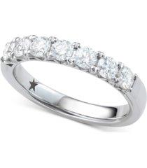 macy's star signature diamond seven stone ring (1 ct. t.w.) in 14k white gold
