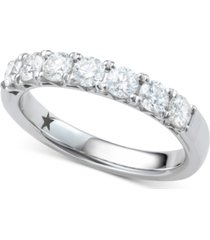 macy's star signature diamond seven stone ring (1 ct. t.w.) in 14k white gold