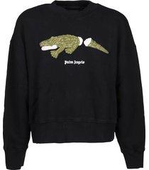 palm angels sweatshirt croco crew