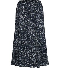 raya skirt lång kjol blå tommy hilfiger