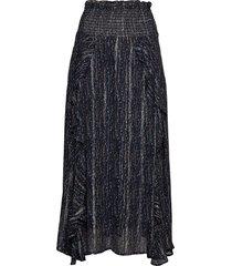 trinaiw skirt knälång kjol blå inwear