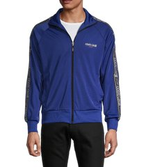 roberto cavalli sport men's full-zip track jacket - royal - size xxl