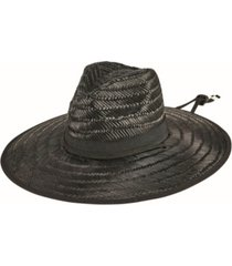 men's moss straw lifeguard with x-large brim hat